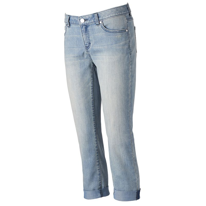 Women's Jennifer Lopez Cuffed Denim Capris