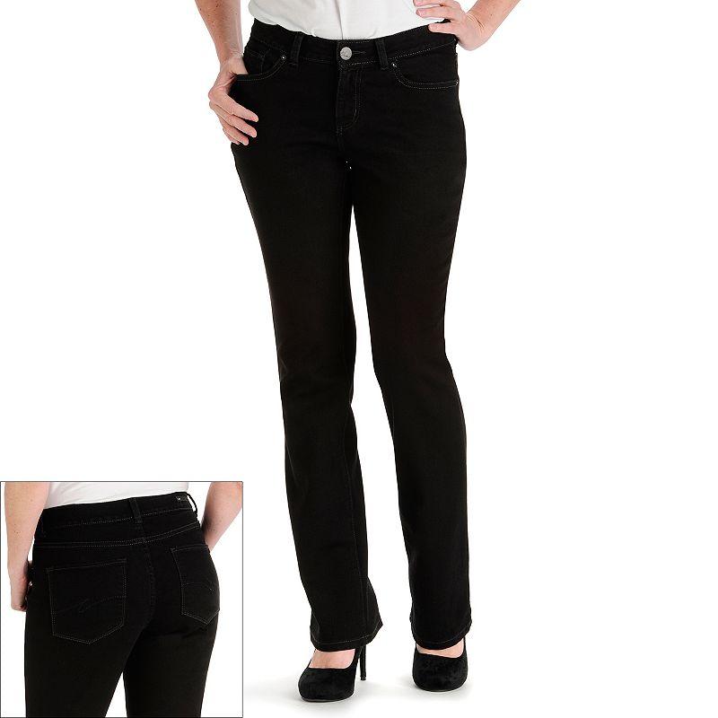 Petite Lee Black Modern Fit Curvy Bootcut Jeans