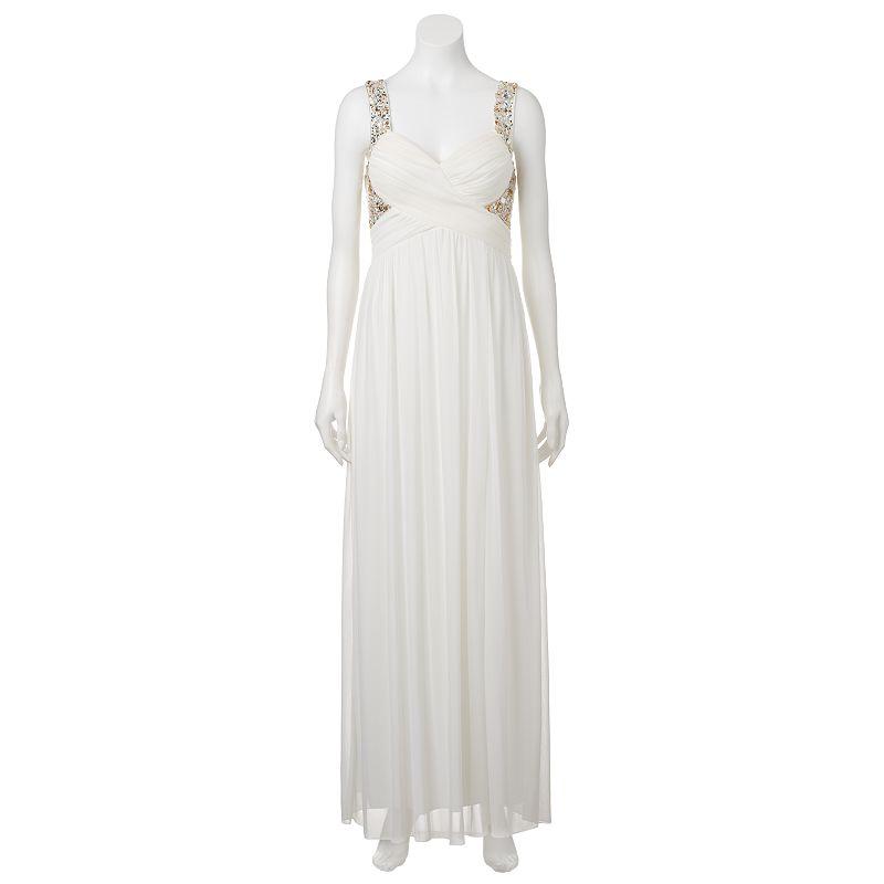 Juniors' Beaded Bodice Maxi Dress