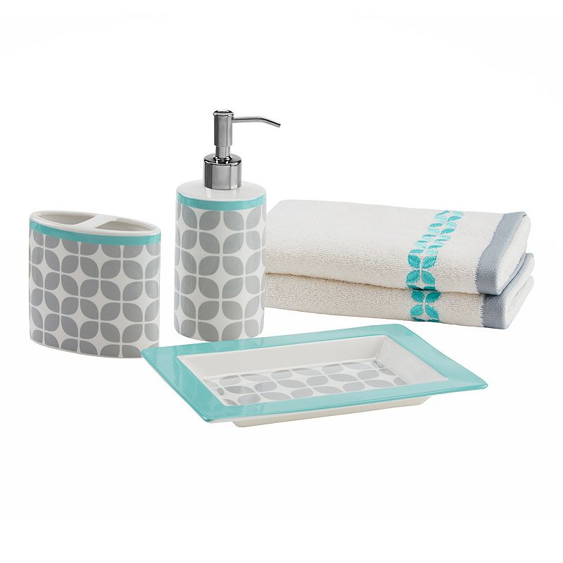 Intelligent Design 5-piece Geometric Bath Accessory Set