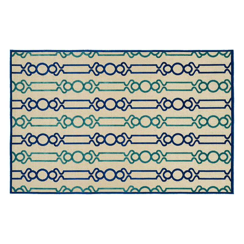 Kaleen Five Seasons Lines Geometric Indoor Outdoor Rug