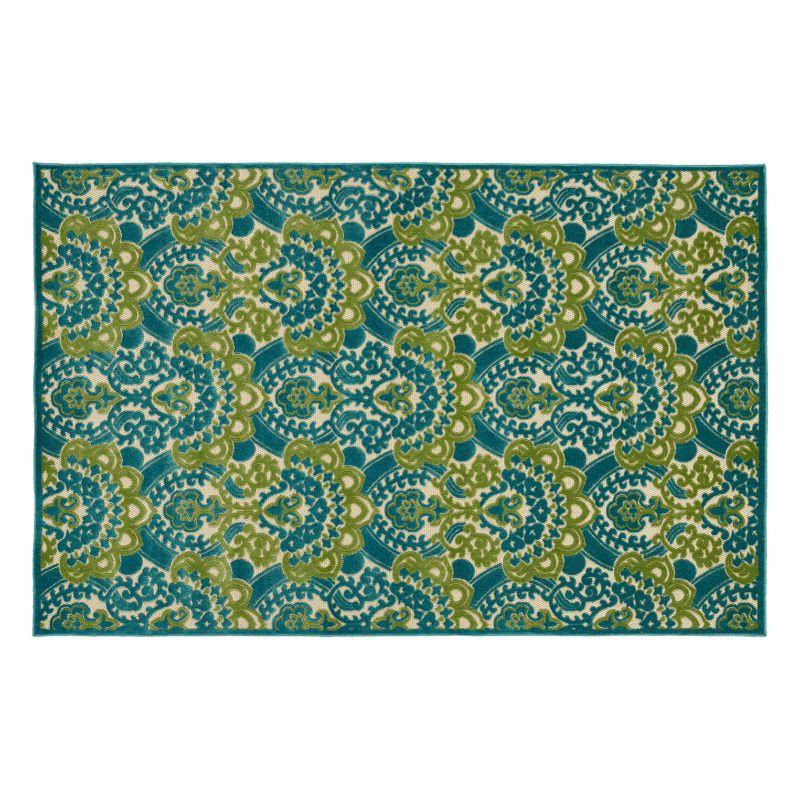 Floral Pattern Mildew Resistant Rug