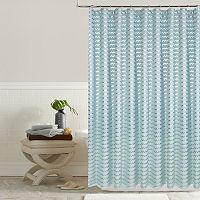 Colordrift Charlie Metallic Chevron Shower Curtain