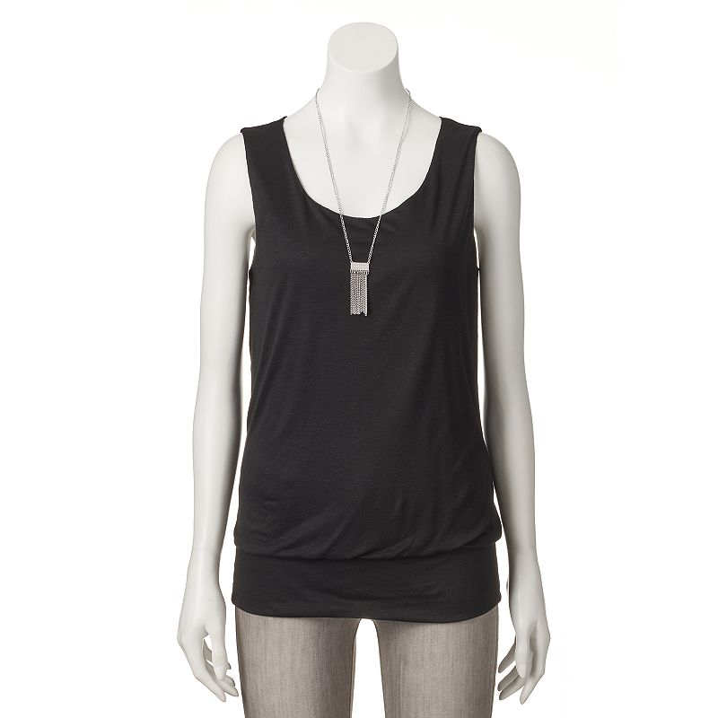 Women's AB Studio Banded Necklace Tank