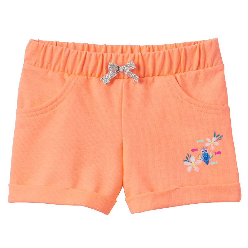 Disney / Pixar Finding Dory Toddler Girl Cuffed French Terry Shorts by Jumping Beans®