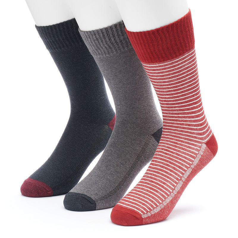 Men's Levi's 3-pack Vintage Striped & Solid Fashion Socks