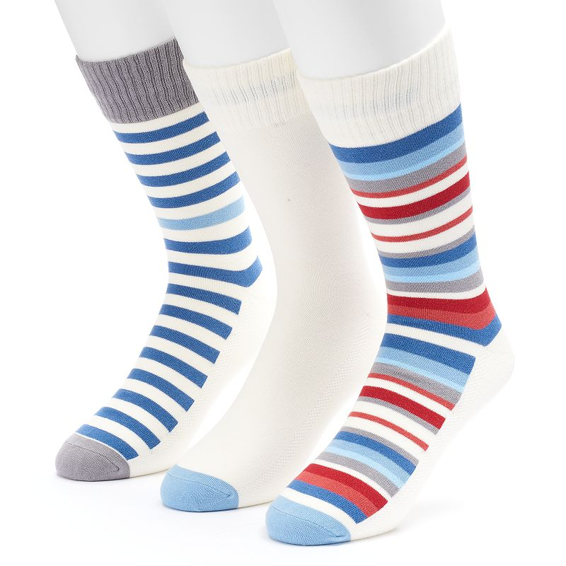 Men's Levi's 3-pack Striped & Solid Crew Socks
