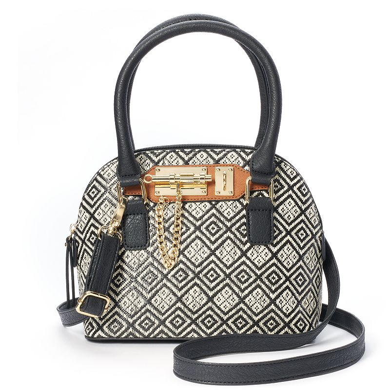 Apt. 9® Zoe Straw Geometric Convertible Mini Dome Satchel