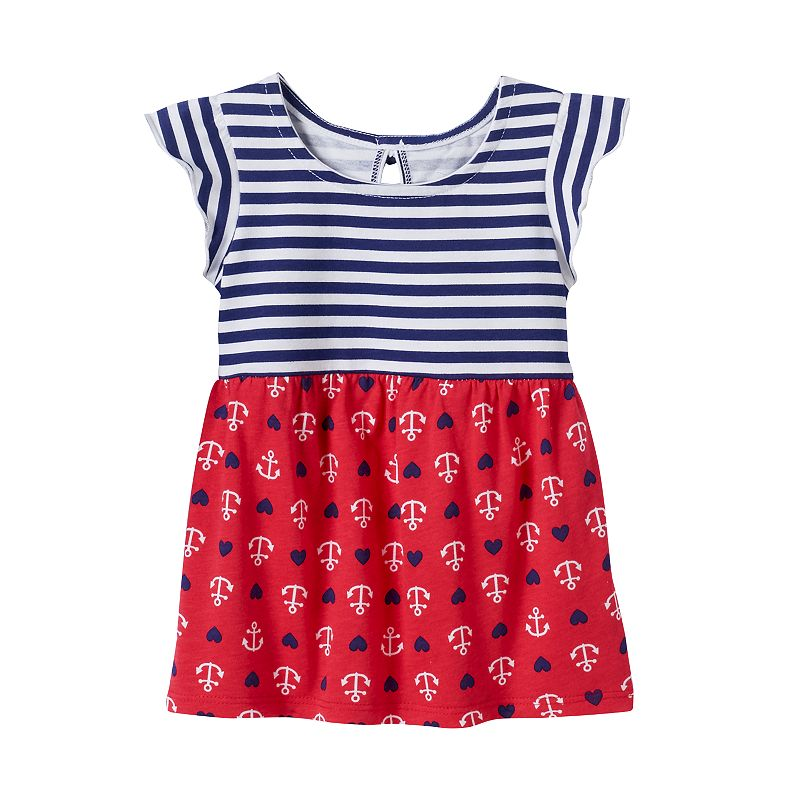 Baby Girl Jumping Beans® Patriotic Print Tunic