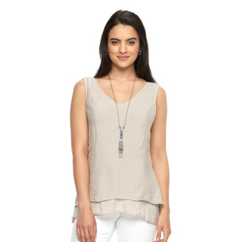 Women's AB Studio Layered Necklace Tank
