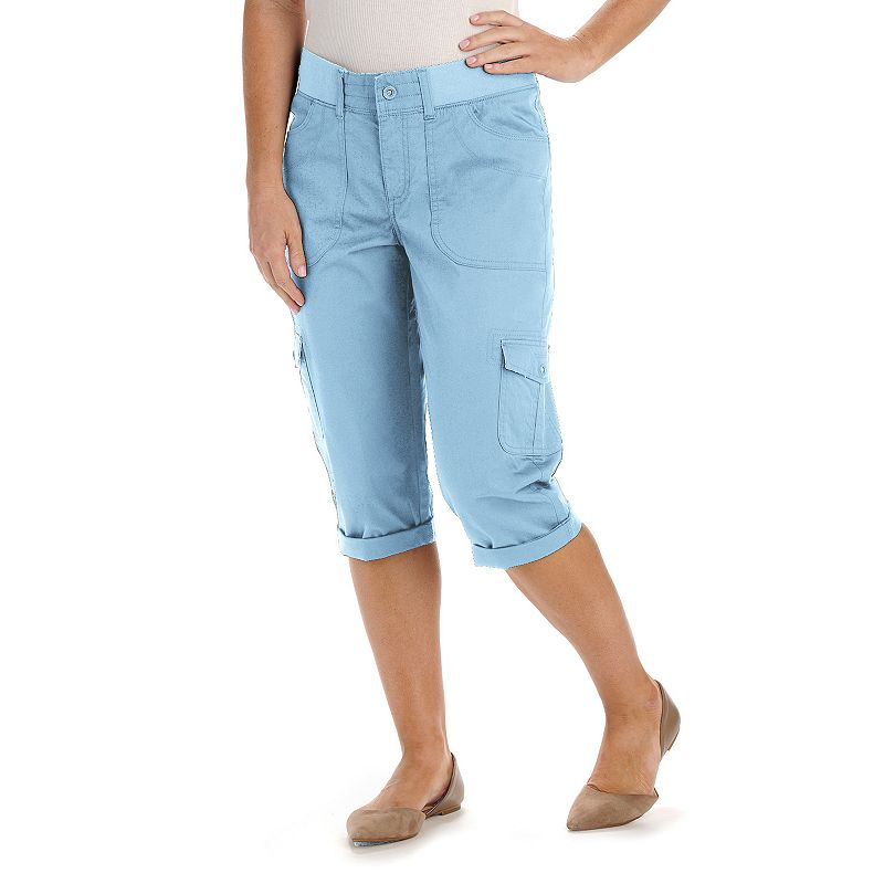 Petite Lee Audrey Relaxed Fit Cargo Capris