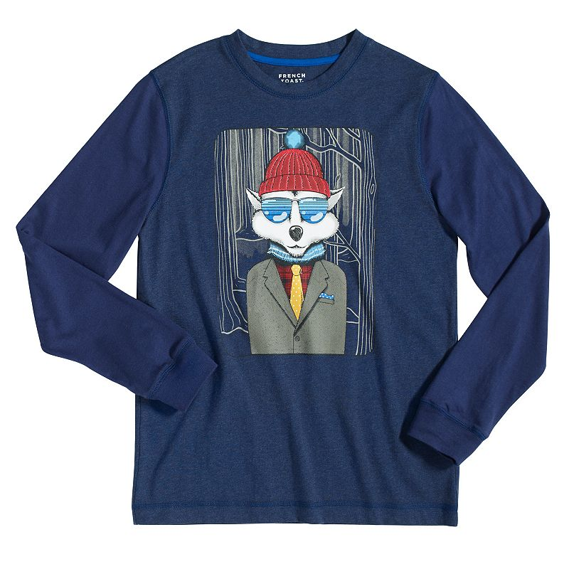Boys 4-7 French Toast Wolf Tee