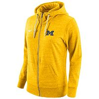 Women's Nike Michigan Wolverines Gym Vintage Fleece Hoodie