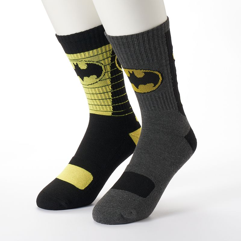 Men's 2-pk. DC Comics Batman Athletic Crew Socks