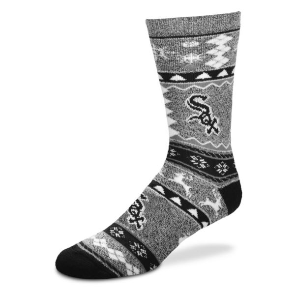 Men's For Bare Feet Chicago White Sox Holiday Crew Socks