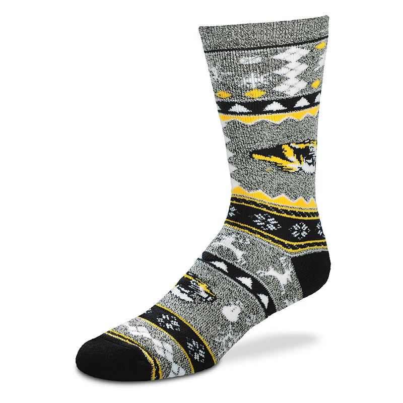 Men's For Bare Feet Missouri Tigers Holiday Crew Socks