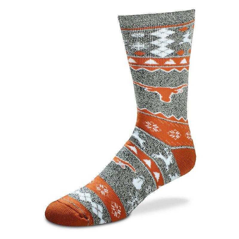 Men's For Bare Feet Texas Longhorns Holiday Crew Socks
