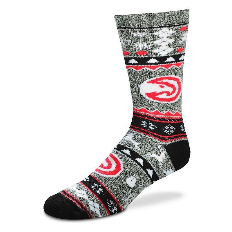 Men's For Bare Feet Atlanta Hawks Holiday Crew Socks