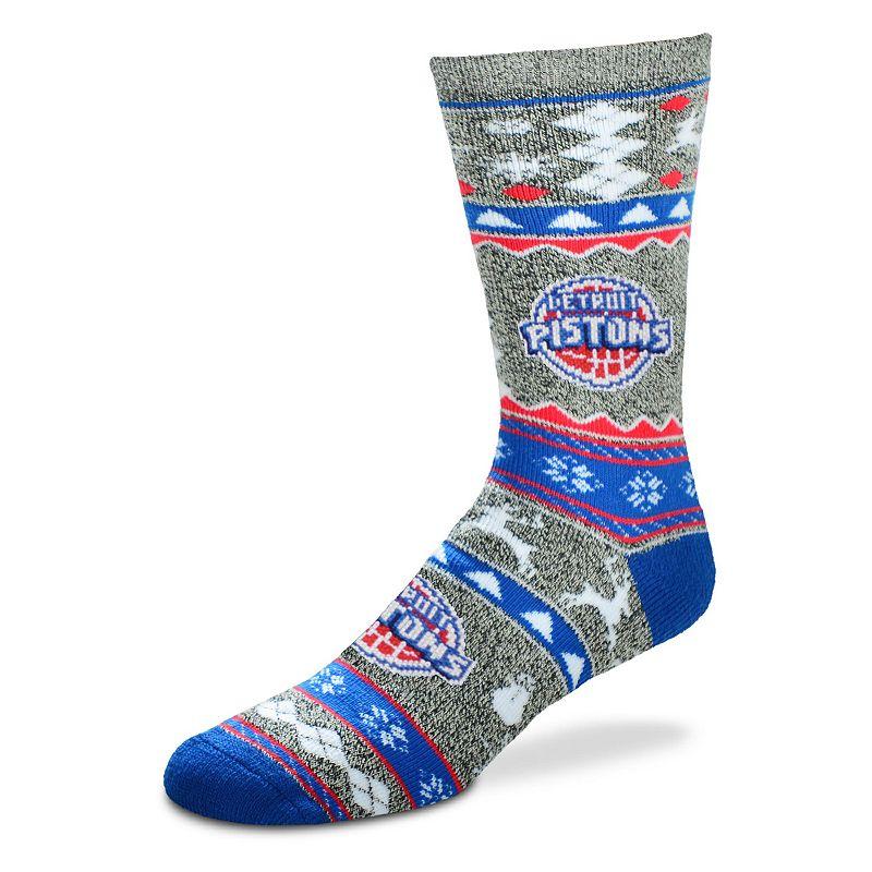 Men's For Bare Feet Detroit Pistons Holiday Crew Socks