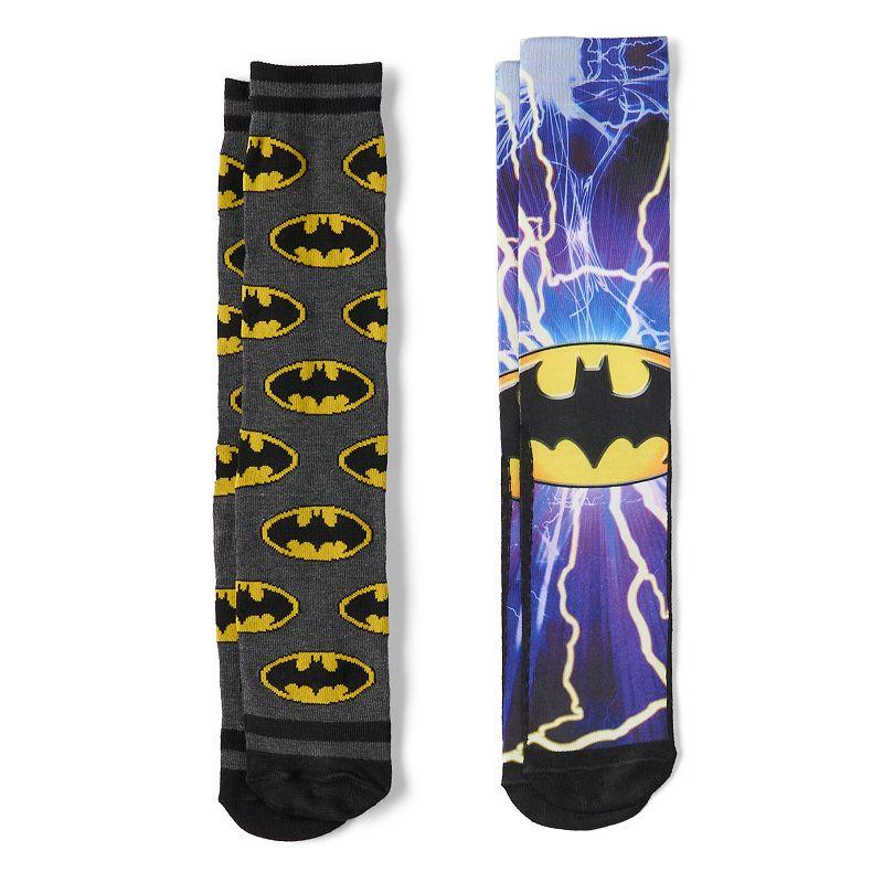 Men's 2-pk. DC Comics Batman Photoreal Crew Socks