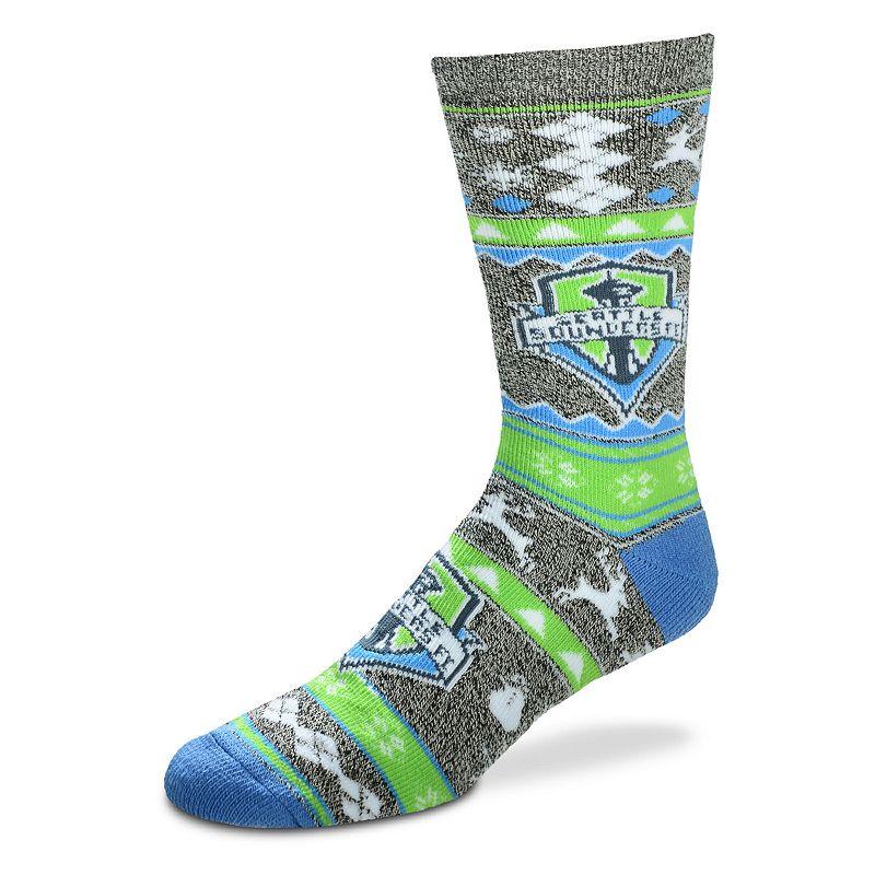 Men's For Bare Feet Seattle Sounders Holiday Crew Socks