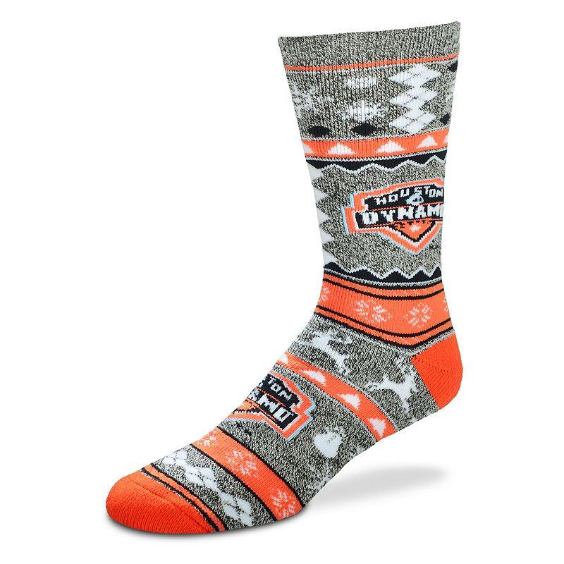 Men's For Bare Feet Houston Dynamo Holiday Crew Socks