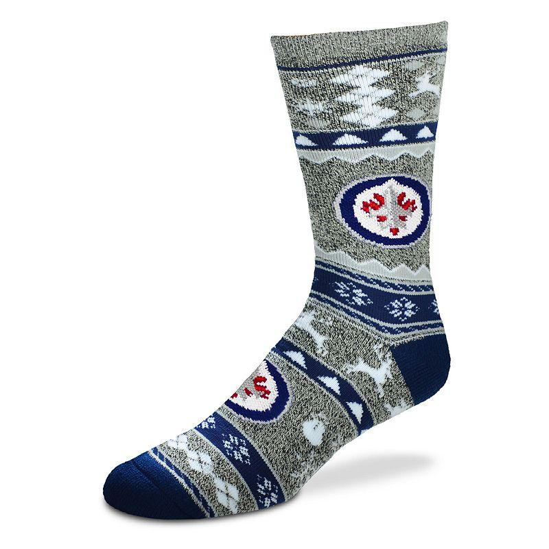 Men's For Bare Feet Winnipeg Jets Holiday Crew Socks