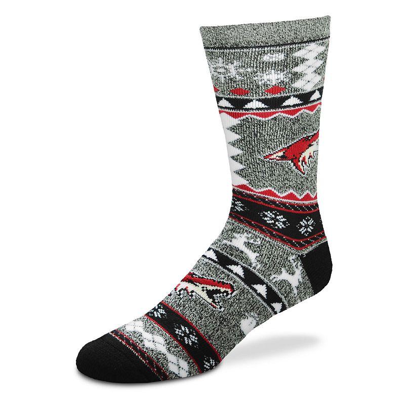Men's For Bare Feet Arizona Coyotes Holiday Crew Socks