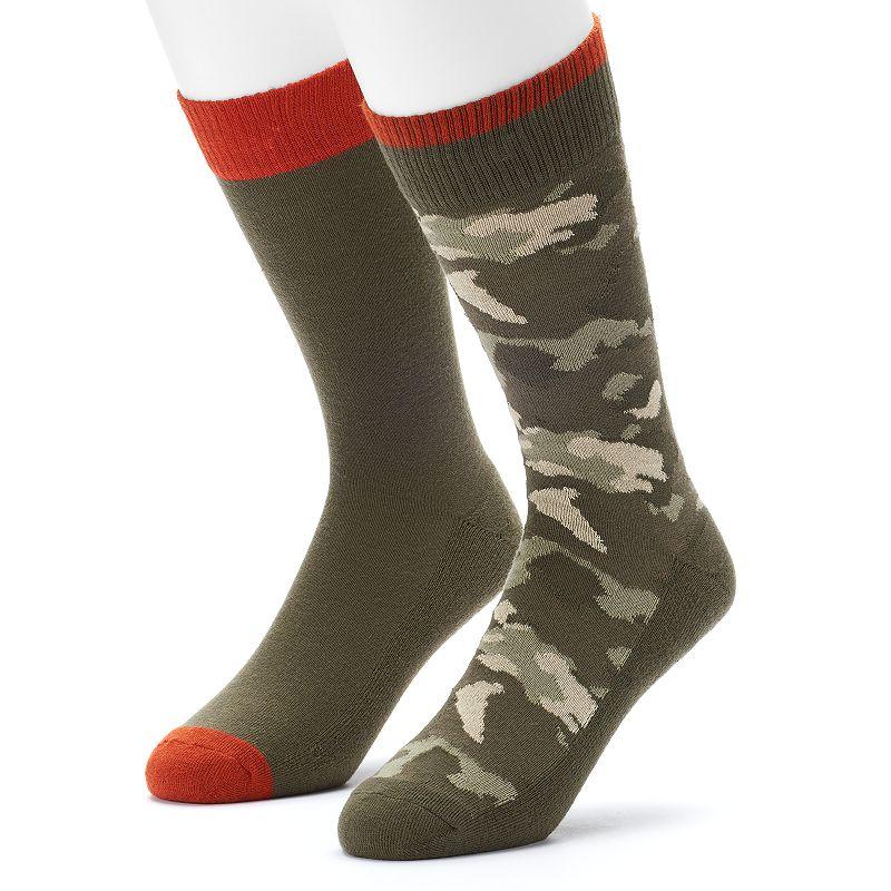 Men's Levi's 2-pack Solid & Camo Crew Socks