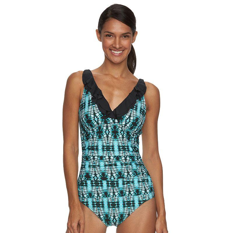 Women's Beach Scene Colette Ruffled One-Piece Swimsuit