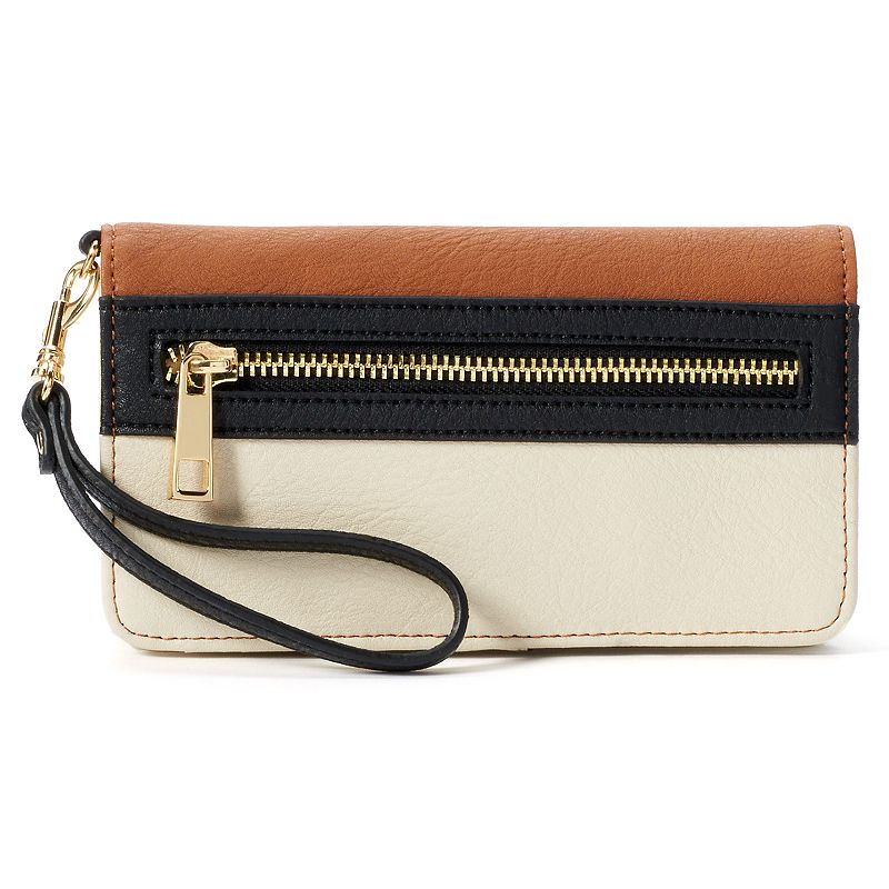 Apt. 9® Margo Colorblock Laser-Cut Wristlet