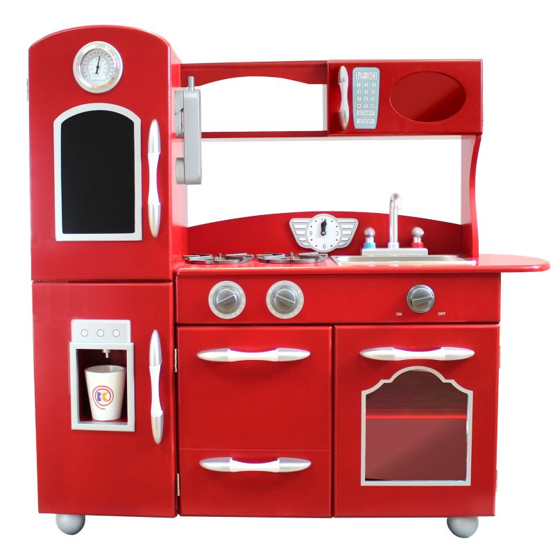 Teamson Kids Wood Retro Kitchen Set