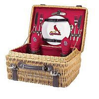 Picnic Time St. Louis Cardinals Champion Willow Picnic Basket with Service for 2