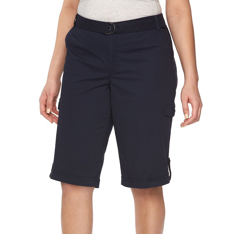 Plus Size Gloria Vanderbilt Farah Poplin Skimmer Capris