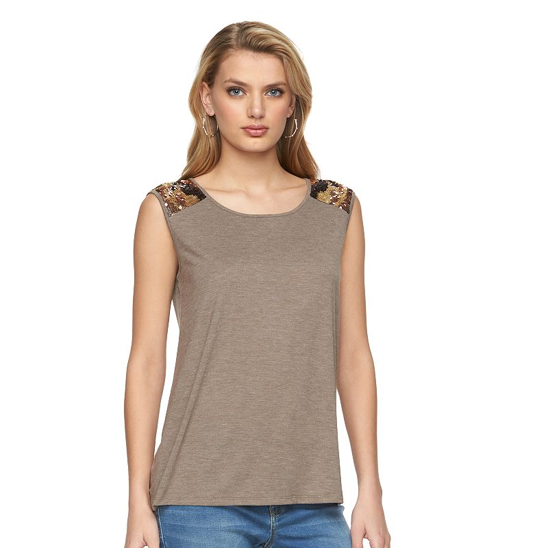 Women's Juicy Couture Camouflage Sequin Tank