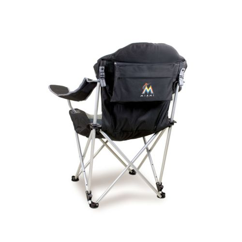 Picnic Time Miami Marlins Reclining Camp Chair