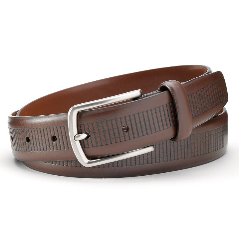 Big & Tall Grand Slam Brown Checked Embossed Golf Belt