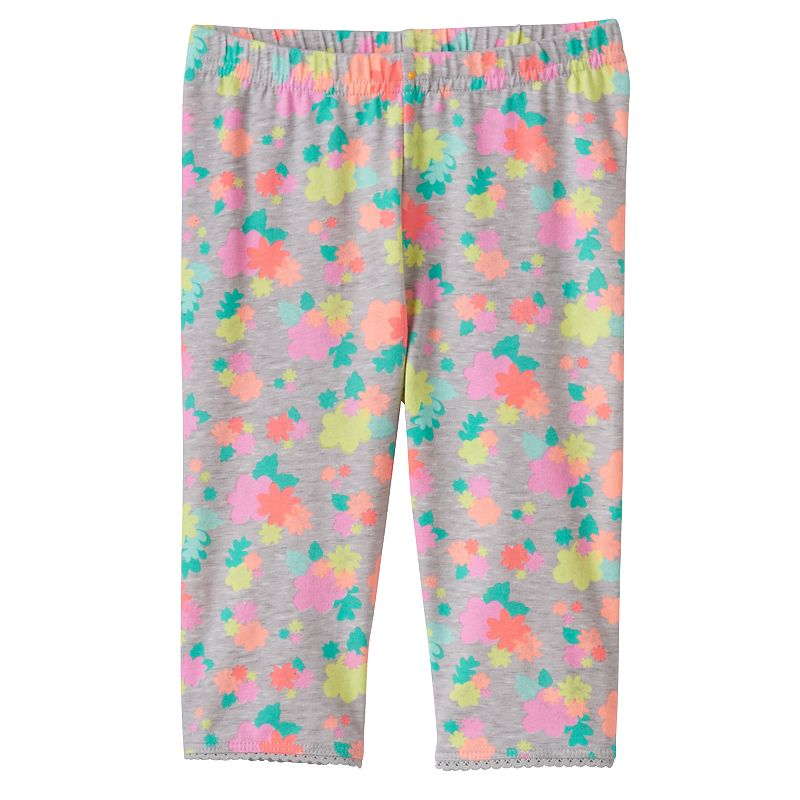 Baby Girl Jumping Beans® Picot Trim Capri Leggings