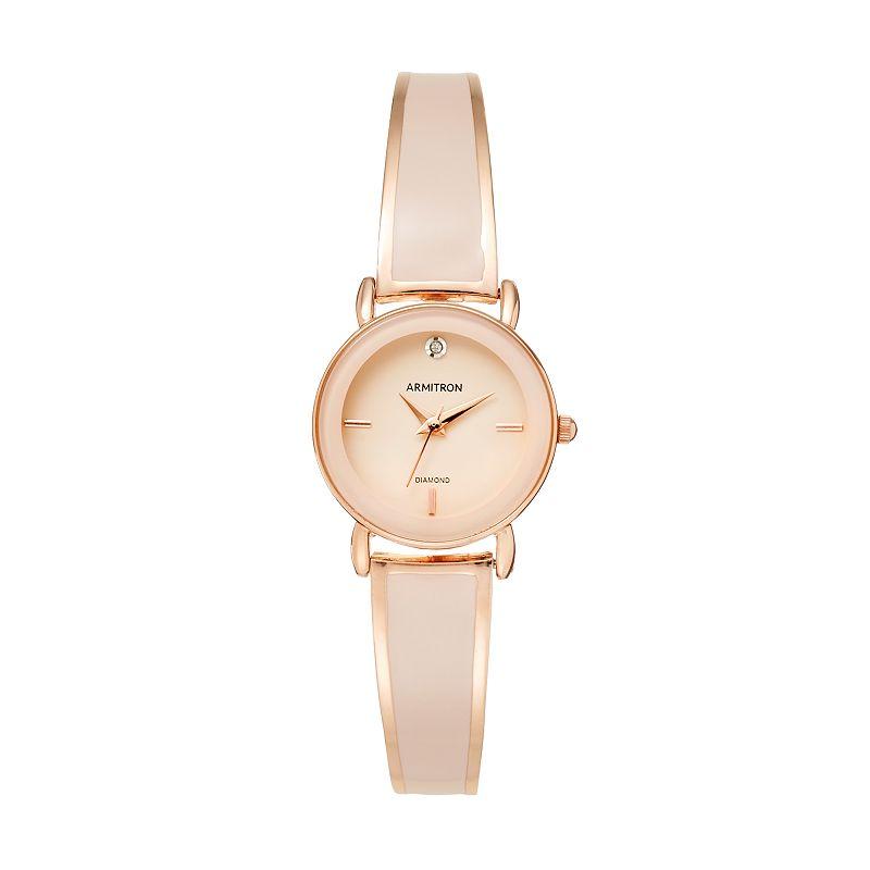 Armitron Women's Diamond Half-Bangle Watch