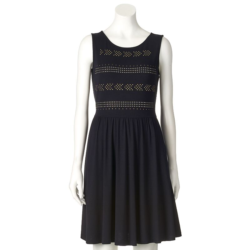 Women's Apt. 9® Studded Fit & Flare Dress