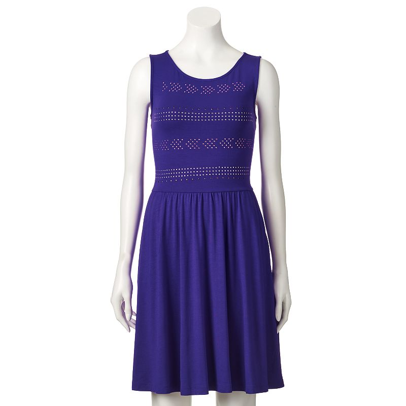 Women's Apt. 9® Studded Fit & Flare Dress