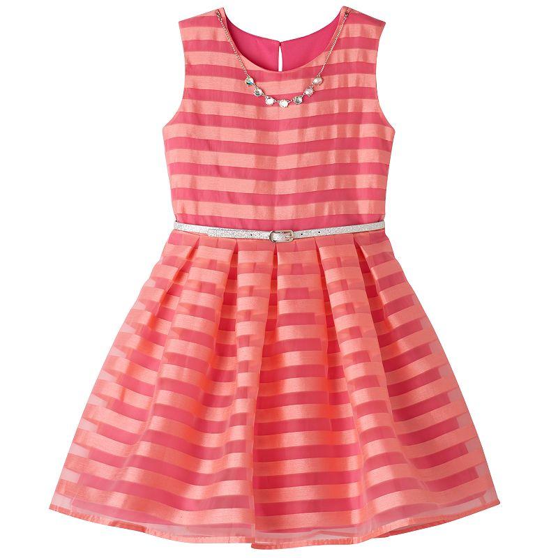 Girls 7-16 Knitworks Shadow Striped Skater Dress