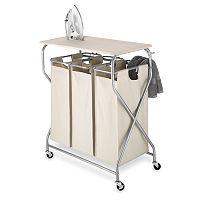 Whitmor Triple Laundry Cart & Folding Table