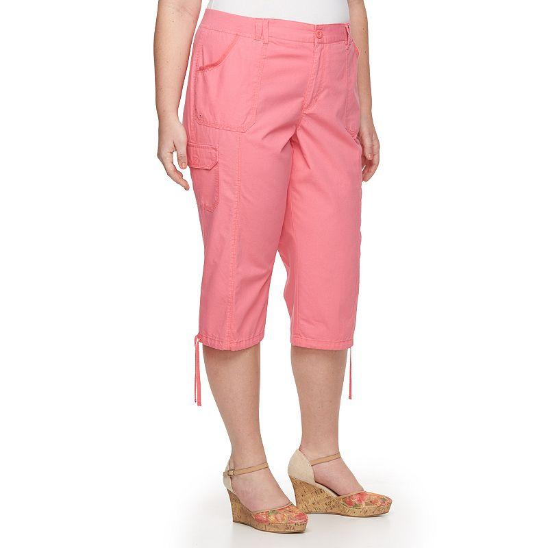 Plus Size Gloria Vanderbilt Jade Ripstop Capris