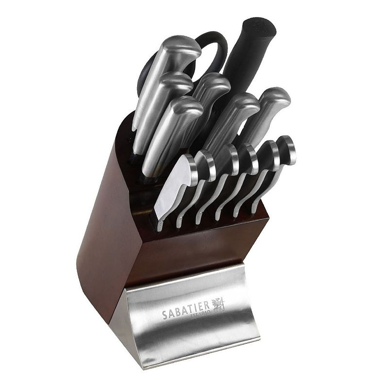 Sabatier 15-pc. Contemporary Stainless Steel Knife Block Set