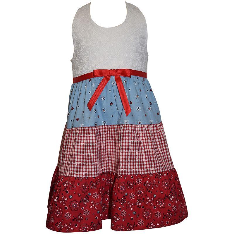 Toddler Girl Blueberi Boulevard Tiered Bandana Halter Dress