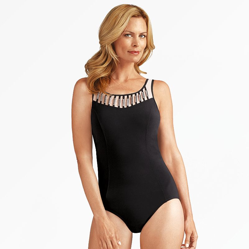 Women's Amoena Embellished One-Piece Swimsuit