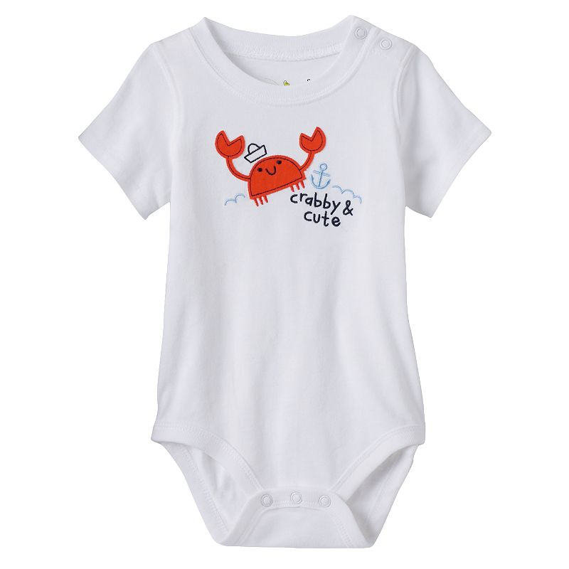 Baby Boy Jumping Beans® Crewneck Applique Bodysuit