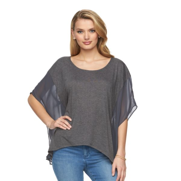 Women's Juicy Couture Draped Mixed-Media Top