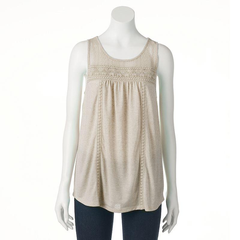 Women's SONOMA Goods for Life™ Linen-Blend Crochet Tank
